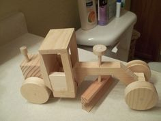 Handmade Handcrafted Wooden Toy Grater Movable Parts Free Shipping
