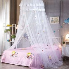 Lace Dome Baby Canopies Round Hanging Mosquito Net Girls Room Decor In A Cot Sky Of Bed Canopy