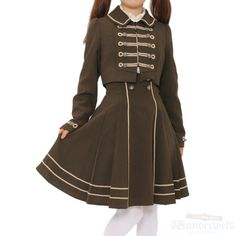 Napoleon style Matching dress two piece Brand: Innocent World ¥ 19,990 tax Shoulder width: 33cm Width: 43cm Sleeve length: 59cm West: 30cm Jacket Length: 36.5cm Skirt length: 57cm Outer material Polyester: 100% Shearing: Yes Rank B: dirt-free used clothes Used Lolita clothing shop Wunderwelt http://www.wunderwelt.jp/products/detail1746.html