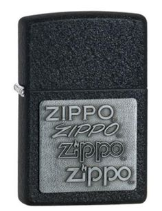 Classic Black Cracke Logo Zippo Lighter