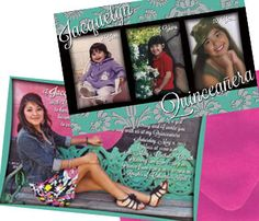 Quinceanera Invite 8.5 X 5.5 printed full by PAPELCustomDESIGN, $150.00 | etsy