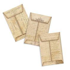 Printable Digital Envelopes Kraft Paper in Vintage Aged Paper Style via Etsy