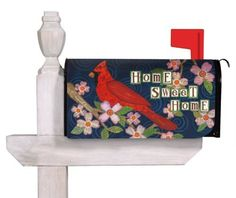 "Evergreen Home Sweet Home,Magnetic Mailbox Cover,18x24 Inches by Ashley. $12.99. Coated PVC design is backed with full surfact magnet. Includes a set of self-adhesive, reflective numbers. Fits all standard size mailboxes,the size is: 18""x24""; For plastic mailbox, please pick our ""Evergreen Magnetic Mailbox Cover Adapter Kit,17x1.5 Inches"" or check ""ASIN: B006XF571I"" in order to use it.. All-weather and fade resistant. Clings to your mailbox in a snap and fits all..."
