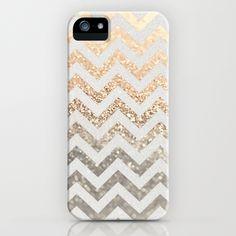 GATSBY GOLD & SILVER  by Monika Strigel Phone Cases $35.00  #gold #silver #chevron #glitter #photography #design #iphone #case #iphonecase #ombre #iphone5 #iphone4 #iphone3 #samsunggalaxy