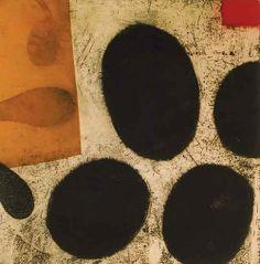 宿るかたちへ-所在ない記憶 Dwelling in the Form-The Bored memory 26.7 x 26.7cm copperplate print with chine collé( etching) 林孝彦 HAYASHI Takahiko 1999