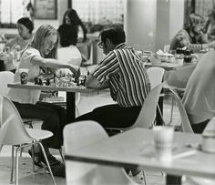 The Huddle at the University of Utah. It was ground zero for Utah's counterculture, a place where young intellectuals could test their chops in science, philosophy and the arts. But more than that, it was just a cool spot to drink coffee . Michael Moore, University Of Utah, Drink Coffee, Chess, Philosophy, Zero, Science, Shit Happens, Awesome