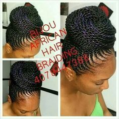 ghana braids bun - Google Search