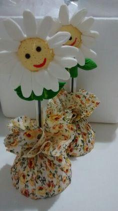 Canetinhas margaridas biscuit!