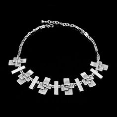 Handcrafted Silver Necklace MADE in Europe by CrystalogyDesign