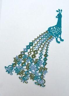 Beautiful tatted peacock