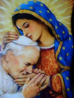ST. John Paul II , with Mary whom he loved so much!