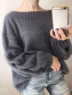 Cable knit oversized sweater Arm knit warm wool sweater Gray cable knit wool sweater with knit cable Cable knit sweater : Arm knit warm mohair wool sweater Gray cable knit mohair Mohair Sweater, Cable Knit Sweaters, Oversize Pullover, Knit Fashion, Knitting Designs, Types Of Sleeves, Couture, Tops, Casual