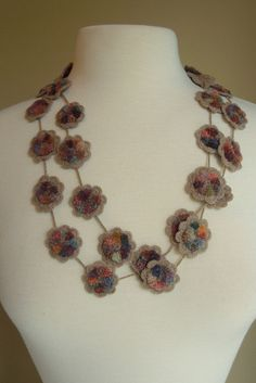"""""""Say it with Flowers"""" necklace – French Needlework Kits, Cross Stitch, Embroidery, Sophie Digard – The French Needle"""
