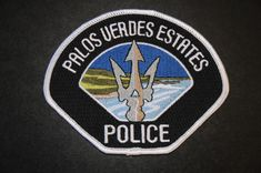 Palos Verdes Estates Police Patch, Los Angeles County, California (Current 2003 Issue)