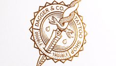 Tattoo Shop Branding: Dagger & Co. by Chad Michael