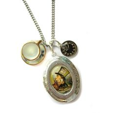 Alice in Wonderland Mad Hatters Tea Party Locket and by hoolala, $42.00