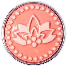 NOOSA Original Chunk Red Waterlily | BIJ'TIJ online Shop Ginger Snaps Jewelry, Red Water, Sacred Symbols, Water Lilies, Amsterdam, Beaded Jewelry, Jewelry Design, Lily, Brooch