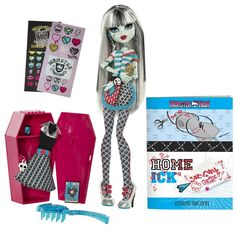 Amazon.com: Monster High Classroom Playset And Frankie Stein Doll: Toys & Games