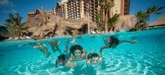 Disney Aulani Resort & Spa, Ali'Inui Drive, Kapolei, pool at ko olina beach lagoon. By Paradise cove at the beach