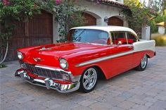 An absolutely beautiful 1956 Chevrolet.