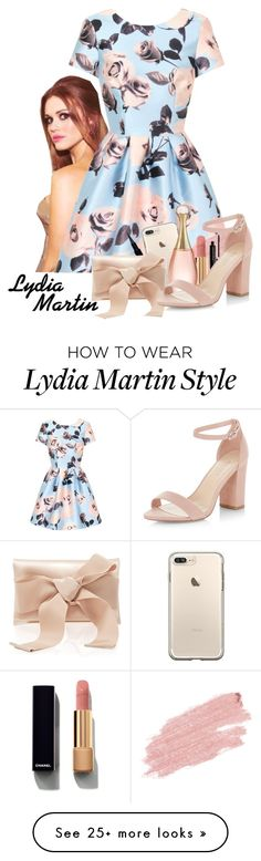 """""""Lydia Martin ~ Teen Wolf"""" by lalalasprinkles on Polyvore featuring Chi Chi, Givenchy, Jane Iredale, Oscar de la Renta, Marc Jacobs, Chanel, Christian Dior and New Look"""