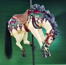 Carousel horses – cream colored ponies | All About Cocoa