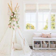 Alyssa Rosenheck: Ethereal Girl Nursery with Boho Teepee