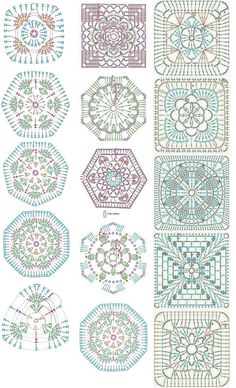 Easy to make crochet granny square pattern. Free crochet chart by Color'n creamColor 'n Cream Crochet and Dream: New Flower Squarecrochê passo a passo ( Crochet Motif Patterns, Crochet Blocks, Granny Square Crochet Pattern, Crochet Diagram, Crochet Chart, Crochet Squares, Crochet Designs, Crochet Doilies, Blanket Crochet