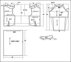 Dress Finished Size: Bust B: 90 cm, Shoulder: 39 cm, Length: 98 cm, Sleeve: 54 cm, Cuff: 20 cm.