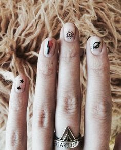 - Bowie Waterslide Nail Decals - 12 Nail Decals - Happily made in Portland, Oregon How To Use Waterslide Nail Decals - Cut carefully and closely around each graphic. - Submerge in water with tweezers