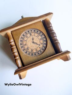 Vintage Wooden Clock Coaster Set 1970s by WylieOwlVintage on Etsy, $9.50