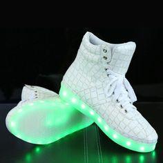 Plus size 35-48 Led Luminous Shoes 2015 Casual Shoes Led Shoes For Women   Men  Fashion Adult LED Lights Up USB Charging Shoe 16126e5da6e9
