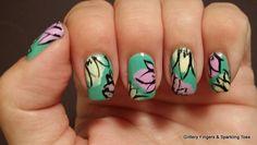 Trendy Ideas For Manicure Pedicure Spring Fingers Pedicure Soak, Pedicure Colors, Pedicure Designs, Manicure And Pedicure, Nail Art Designs, Glitter Gel Polish, Nail Polish, Diva Nails, Floral Nail Art