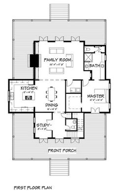 Coastal Home Plans - Nellie Creek Cottage. Change exterior, add tub to master bath and poss reduce the 2200sf a bit