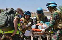 Satgas Indobatt Gelar Latihan Medis di Lebanon