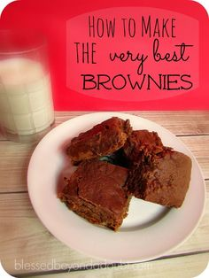 The very BEST rich chocolate brownies recipe on this planet!