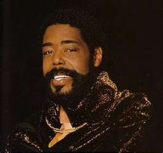 "Barry!Barry White, born Barry Eugene Carter (September 12, 1944 – July 4, 2003), was an American composer and singer-songwriter.  A two-time Grammy Award-winner known for his distinctive bass voice and romantic image, White's greatest success came in the 1970s as a solo singer and with the Love Unlimited Orchestra, crafting many enduring soul, funk, and disco songs such as his two biggest hits, ""You're the First, the Last, My Everything"" and ""Can't Get Enough of Your Love, Babe."""