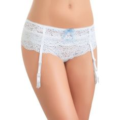 B.Tempt39d By Wacoal Bridal White Ciao Bella Garter Belt - Women's ($21) ❤ liked on Polyvore featuring intimates, bridal white, garter belt, suspender belt and b.tempt'd by wacoal