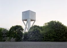 V+'s Chateau d'Eau water tower rests on crossed concrete stilts