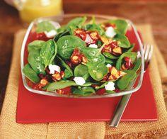 Salade d'épinards aux amandes confites et vinaigrette de citron