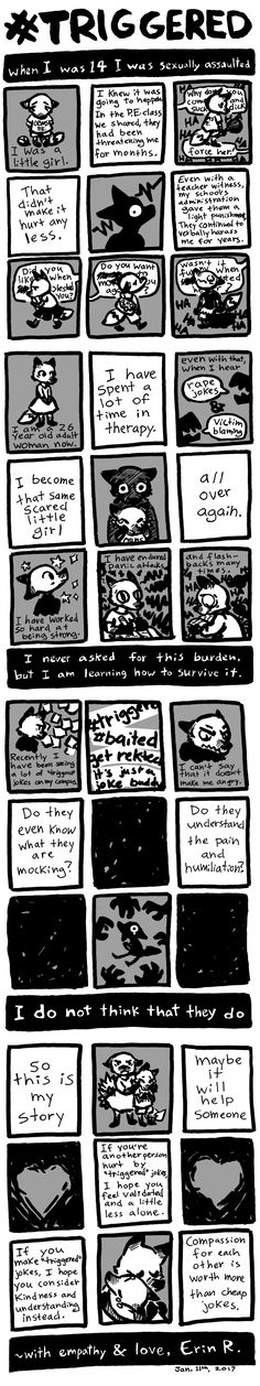 I don't usually do autobio comics but lately some difficult things have been on my mind that I felt like I should share.