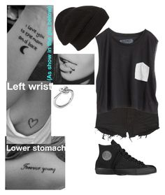 """""""Prp"""" by bullying-stops-here259 ❤ liked on Polyvore featuring Ksubi, Blondes Make Better T-Shirts, Converse, Phase 3 and Michael Kors"""