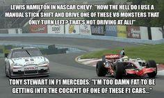 NASCAR vs. Formula 1