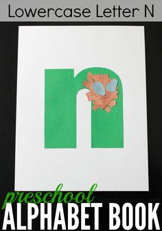 Perfect for Spring, this lowercase letter N nest craft is a ton of fun to make and a great way to practice scissor skills with your preschooler!