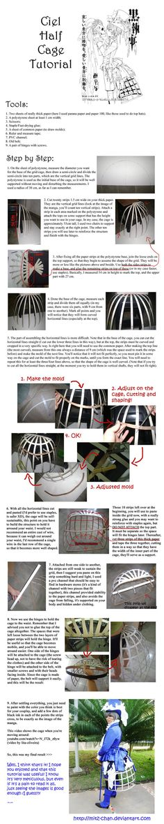 Ciel Half-Cage Tutorial .En. by ~Mitz-chan on deviantART ..and for some reason I feel I should re-pin this! Hahaha