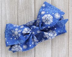 Holiday Christmas head wrap bow accessories snowflake