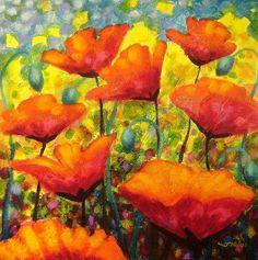 Poppy Corner Painting by John Nolan - Poppy Corner Fine Art Prints and Posters for Sale