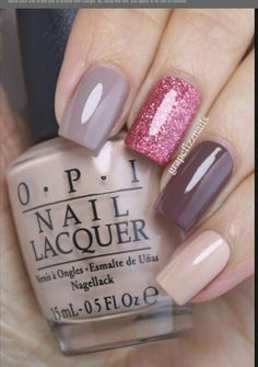 Autumn nails - sparkles is best applied with a makeup sponge rather than multiple coats!