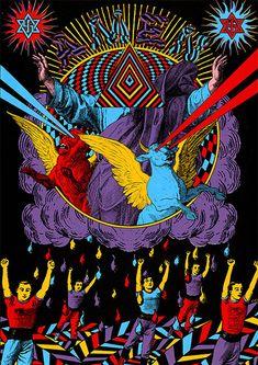 Optically Addicted: Elzo Durt Creates Underground Culture Through His. Illustration Design Graphique, Illustration Photo, Art Inspo, Pop Art, Acid Art, Stoner Art, Illustrations And Posters, Psychedelic Art, Art Design