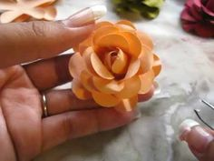 Paper Rose Tutorial - YouTube